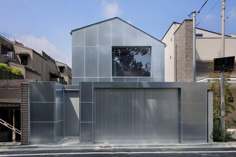 Дом из оцинкованной стали от студии CASE-REAL