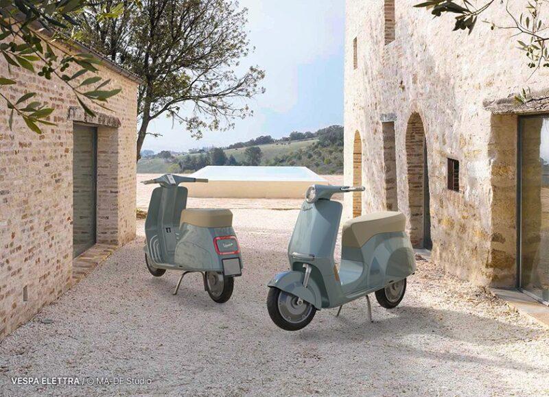 Проект электрического скутера Vespa ELETTRA от студии MA-DE