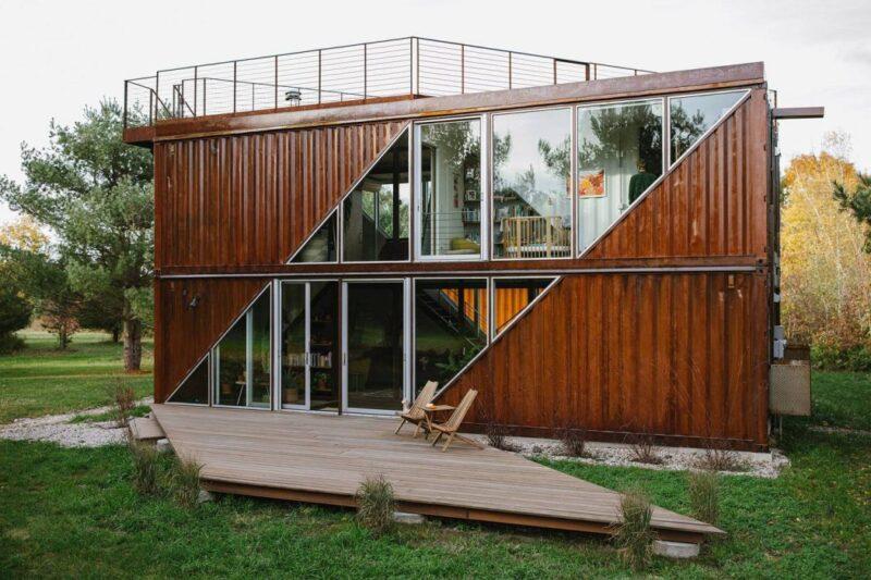 Дом из контейнеров C-Home от студии LOT-EK Architects