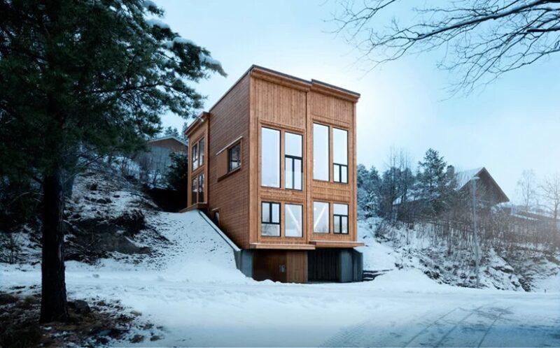 Дом из бетона и дерева в Норвегии