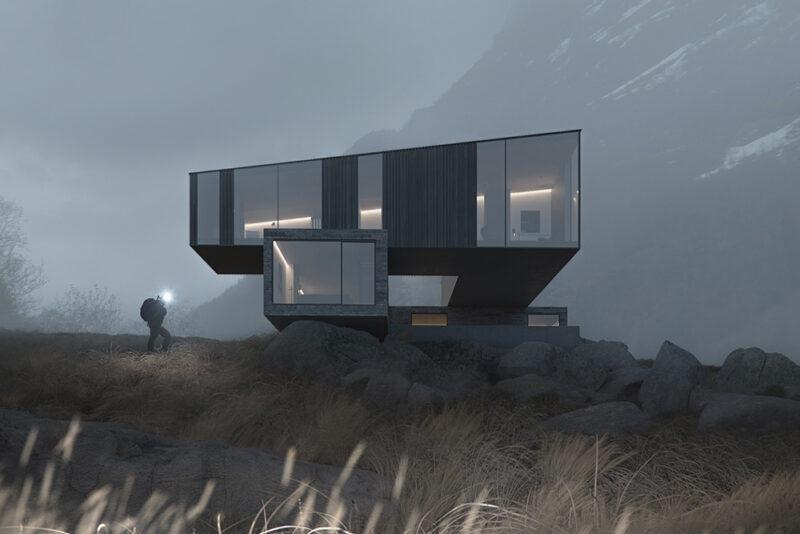 Бруталистская архитектура от студии CYLIND