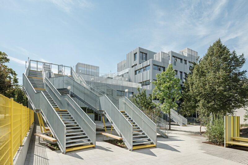 Дизайн и архитектура современной школы в Вене от студии PPAG