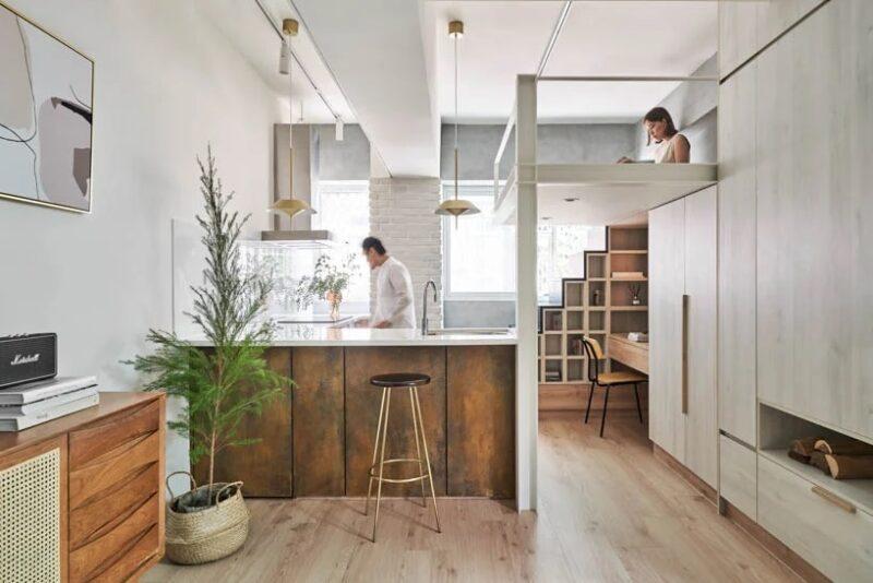 Дизайн микроквартиры 23 кв. м. в Тайване от студии Nestspace design