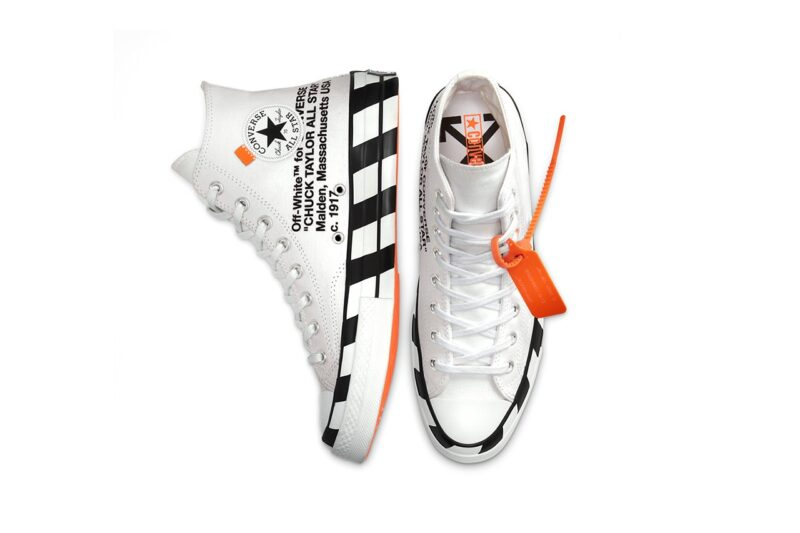 Обновленные высокие кеды Off-White ™ х Converse Chuck 70