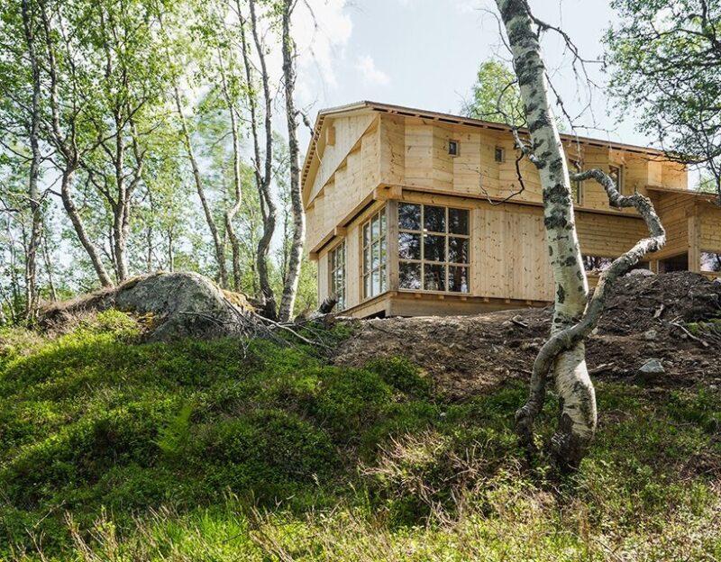 Дом в норвежском лесу от компании Knut Folstad Arkitekt