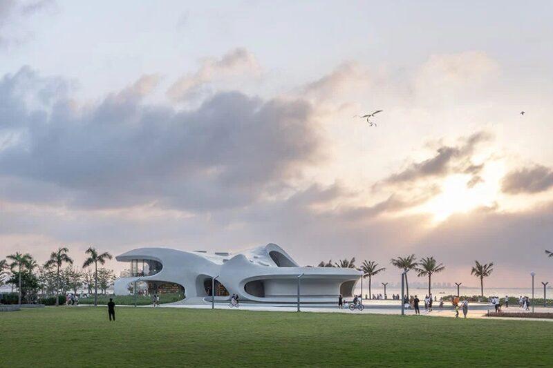 Библиотека «Облачный пейзаж Хайкоу» от студии MAD Architects