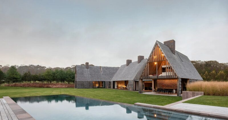 Деревянный дом с соломенным сайдингом от Bates Masi + Architects