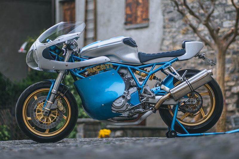 Кафе-рейсер Ducati 900SS от GDesign в стиле 60х