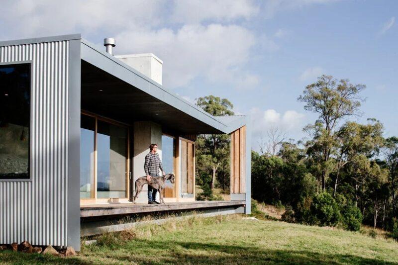 Скромное жилище из простых материалов в Тасмании от студии Cumulus