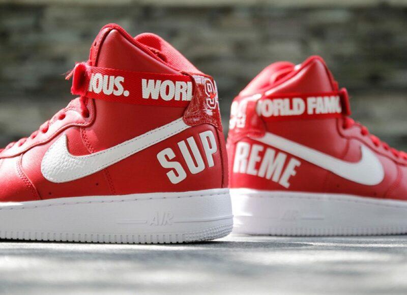Популярные совместные кроссовки Supreme & Nike