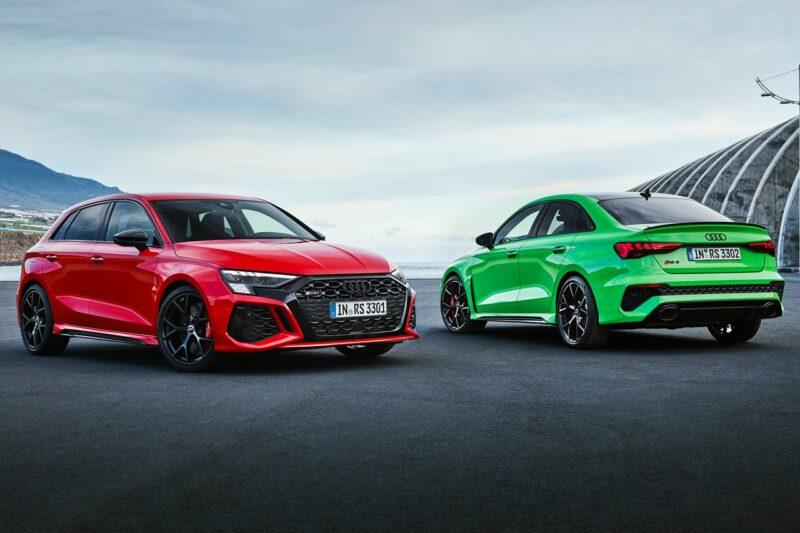 Audi представляет 400-сильный RS3 Sportback и Sedan