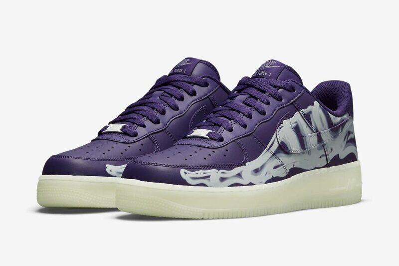 Nike выпускает Air Force 1 Low «Purple Skeleton» для нового сезона