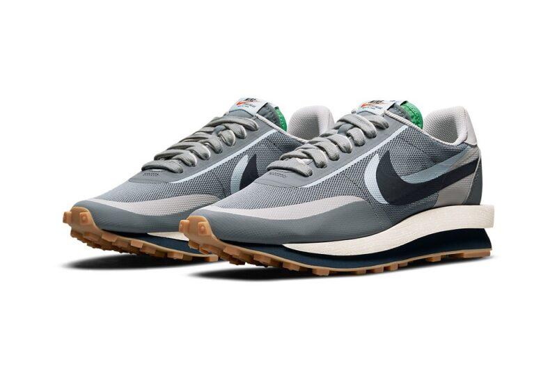 CLOT x sacai x Nike LDWaffle «KOD 2» в цвете «Obsidian Grey»