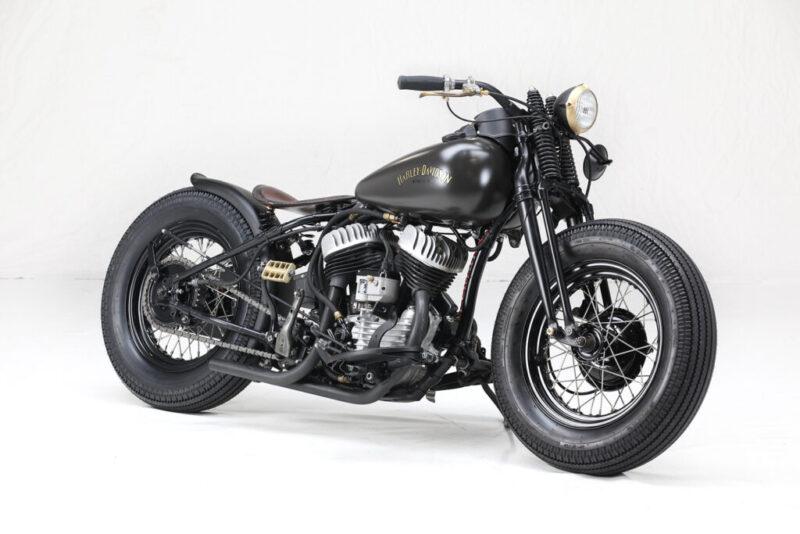 Harley-Davidson WLA Flathead Bobber 1942 года