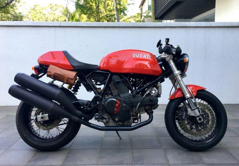 История Ducati Sport 1000 в ретро-стиле